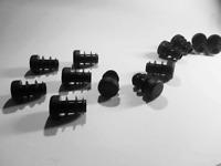 15mm- 10pcs Round Plastic Black Blanking End Cap Caps Tube Pipe Inserts Plug