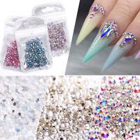Mix Opal Crystal 3D Nail Art Rhinestones Charm Glass Gems Jewelry Nail Sticker