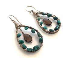 Silpada Sterling Silver Turquoise Smoky Quartz Earrings - W2215