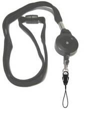 Negro cordón Retráctil Carrete Inc Desmontable móvil bucle con seguridad disidente