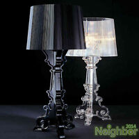 New Modern Contemporary CLEAR Transparent Bourgie Table lamp Desk Light Lamp