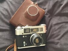 Vintage Fed 4 Soviet Rangefinder Camera & Case