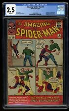 Amazing Spider-Man #4 CGC GD+ 2.5 White Pages 1st Print 1st Sandman!