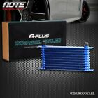 10 Row An10 Fit For Universal Aluminum Engine Transmission Oil Cooler Blue