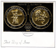 MANAMA 0109 BvBG (6) SAPPORO ON MEXICO OLYMPIC BLACK GOLD IMP SS FIRST DAY COVER