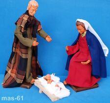 HEILIGE FAMILIE MARIA JOSEF JESUSKIND BIEGSAM FIGUR HANDARBEIT KRIPPE KLOSTER