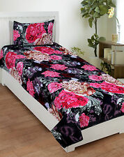 Homefab India 3D Single Bed-Sheet with 1 Pillow Cover (Single168)