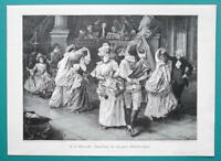YOUNG LADIES Dance Mardi Gras Carnival of Grandmothers - VICTORIAN Era Print