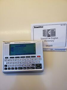 Franklin Electronic Speaking Spanish-English Dictionary BES-1890 Tested-Works