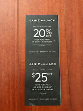 Janie and Jack Coupon 20% OFF $25 OFF Purchase $100 Expires DEC 24, 2020