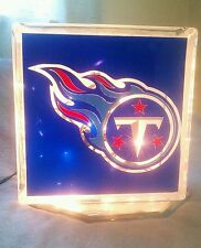 Lighted Tennessee Titans Glass Block Light~ Home Decor~Gift~Lamp