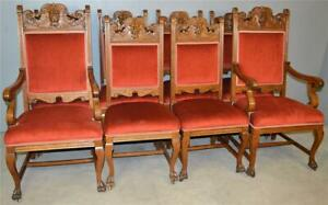 21023 Set 8 Carved Northwind Chairs – Horner Style