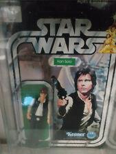 ORIGINAL Vintage STAR WARS Han Solo on 12 Back Card KENNER in Star Case