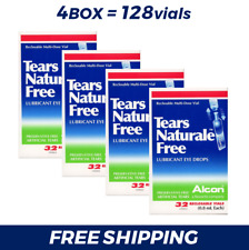 4 Box = 128 Vial x 0.8ML Alcon TEARS NATURALE FREE Eye Drops +TRACKING EXP:12/19