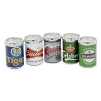 Dollhouse Beer Cans- Set of 5 1:12 Scale Dollhouse Beer Cans