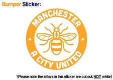 Manchester Bee United City Bumper Car ipad Sticker YELLOW - VINYL DECAL