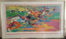 "LEROY NEIMAN ""OLYMPIC TRACK "" SERIGRAPH AUTOGRAPHED AND DOUBLE SIGNED IN PENCIL"
