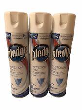 (3) Pledge Plus Furniture Polish Spray Conditioners 12.5oz each
