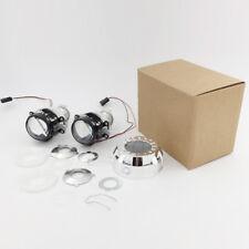 "2X 1.8"" Mini HID RHD Bi-xenon Projector Lens Kit Headlight Bulb Shroud H4 H7"