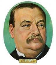 Vtg President Grover Cleveland Die Cut Face Paper Wall Decoration New Old Stock