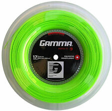 Gamma Moto in lime 1.29mm 200 Meter Rolle mit 20 Besaitungsaufklebern !