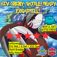 Pokemon Sword Shield SHINY 6IV EXCADRILL | BATTLE READY | + JPN DITTO OFFER