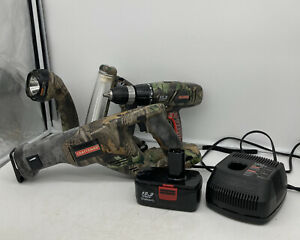 Craftsman Camouflaged Power Tool Set: Drill, 2 Flashlights, Reciprocating Saw
