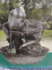 Watering Cans Fountain Garden Water Feature Bronze Affect Finish