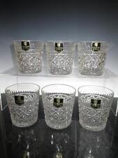 "Six (6) Edinburgh Crystal ""Royal Scot"" OF Whisky Glasses, Script, unused (Boxed)"