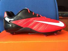 Mens Nike Vapor Strike D 3 Low, NFL Red Black Football Cleats 511336-610 SZ 15