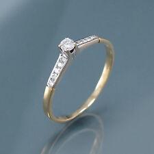 Ring mit Brillanten ca. 0,30 ct in 750/18K Gelbgold/Weißgold - 2,0 g - Gr. 62