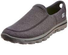 Skechers Men's Gowalk2 Super Sock Trainers in Charcoal, Size UK6 to UK13
