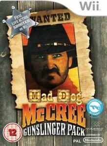 Wii - Mad Dog Mcree Gunslinger Pack - Same Day Dispatched VGC