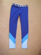 Girl's Juniors' SO Brand Athletic Performance Leggings Blue Size 14 Mesh Panel