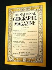 January, 1948 National Geographic Magazine, Round the Horn By Submarine w/ MAP!