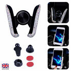 Car Mobile Phone Holder Air Vent Mount Cradle for GPS Crystal Bling Accessories