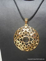 Beautiful Metal Crown Chakra Divine Spiritual Healing Chakra Pendant Reiki