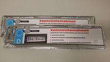 2 x Kennzeichenträger Chrom Optik Nummernschild Rahmen Kennzeichen Halter *Neu*
