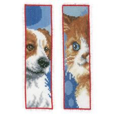Vervaco kit de punto de cruz - Marcapáginas gato y perro Set de 2