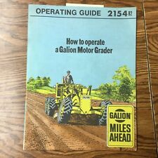 Galion Dresser HOW TO OPERATE A MOTOR GRADER MANUAL OPERATION GUIDE BOOK #2154