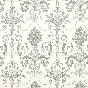 Laura Ashley Josette Charcoal Grey Wallpaper * FREE DELIVERY *