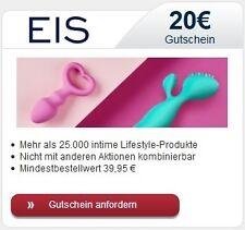 20€ Gutschein EIS.DE Erotik Shop Dildos Dessous TOYS SEX diskret paypal 03.09.17