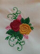 "Old Country Roses ""Royal Albert"" Splash of Pink  #2 Emb. Napkins Set of 4"