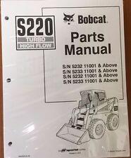 Bobcat S220 Parts Manual Book Skid Steer Loader 6902635 New