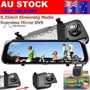 10'' Dual Lens 1080P Dash Cam Car DVR Rear Mirror Camera Streaming Vehicle Video