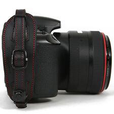 Herringbone DSLR SLR Camera Leather Hand Grip Strap Heritage Type2 Black/Red