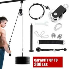 DIY Fitness Pulley Cable Machine Gym Workout System Equipment Home Lifting Tool