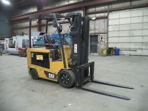 "2014 Caterpillar EC30N2, 6,000#, 6000# Cushion Tired 36V Forklift, 186"" Lift"