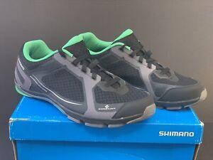 Men's Size 12.3 (EU48) Shimano SH-CT41L - Cycling Shoes - Black / Grey / Green