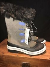 Youth Boots Size 6, Cat & Jack, Grey/Nadia, Fur Topped, Snow, Rain, Boots, NEW